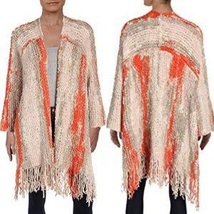 FP Desert Days Fringe duster cardigan - orange tan